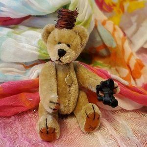"Other - 3"" Minature Bird Watching Teddy Bear"